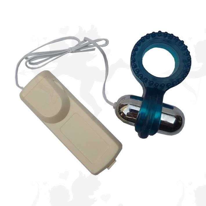 Mantensor de erección con vibrador y control