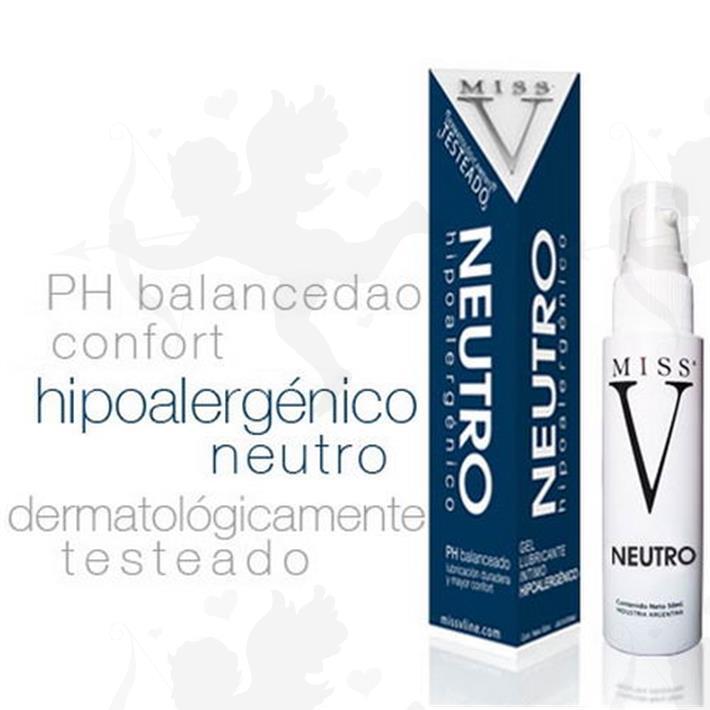 Gel lubricante neutro hipoalergénico