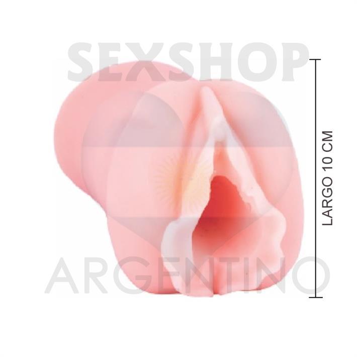 Masturbador con forma de vagina en silicona