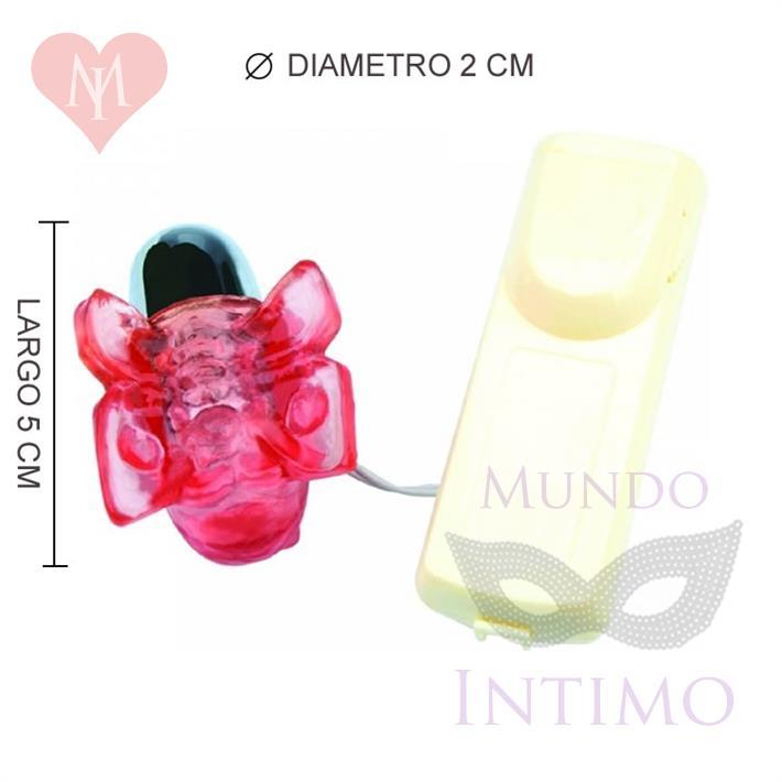 Vibrador estimulador micro mariposa