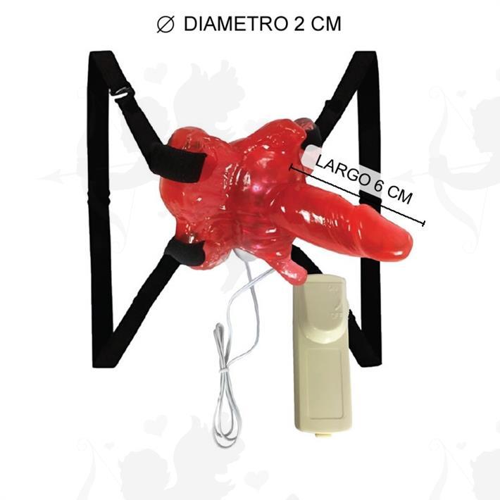 Cód: 2132-5 - Vibrador estimulador femenino con micro pene - $ 1490