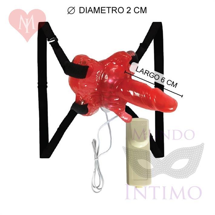 Vibrador estimulador femenino con micro pene