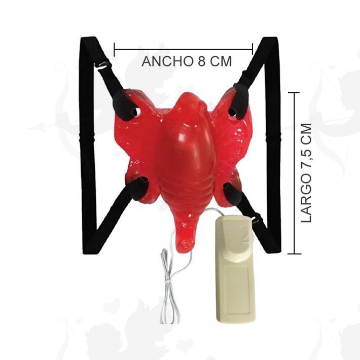 Cód: 2134-5 - Vibrador estimulador femenino mariposa - $ 1680