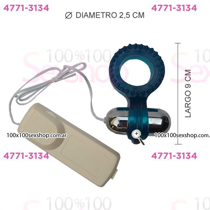 Cód: CA 2135-5 - Anillo para mantener la erección con vibrador - $ 1630