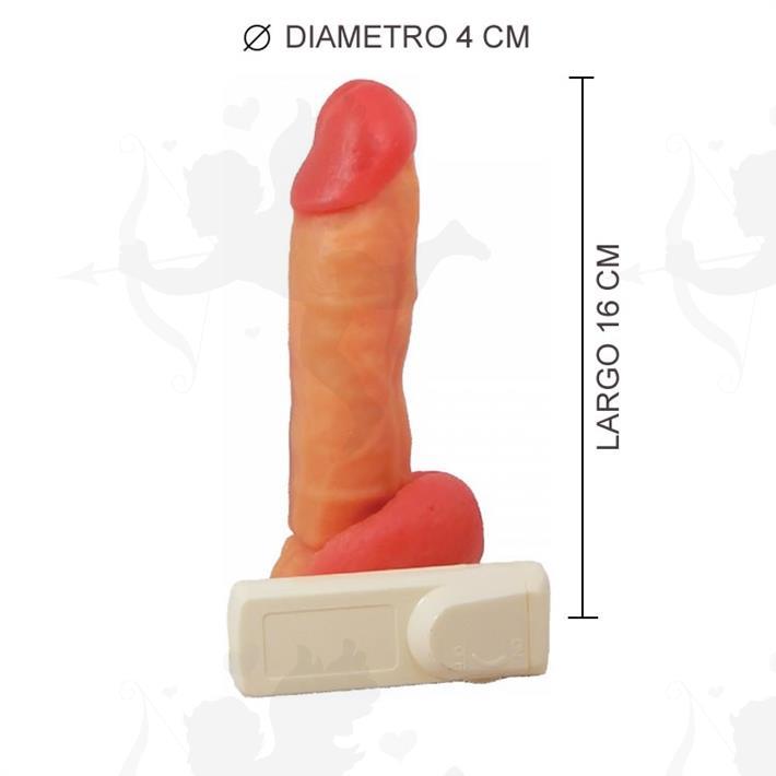 Cód: 32302-4 - Consolador realístico con vibro y sopapa mini kong - $ 4150