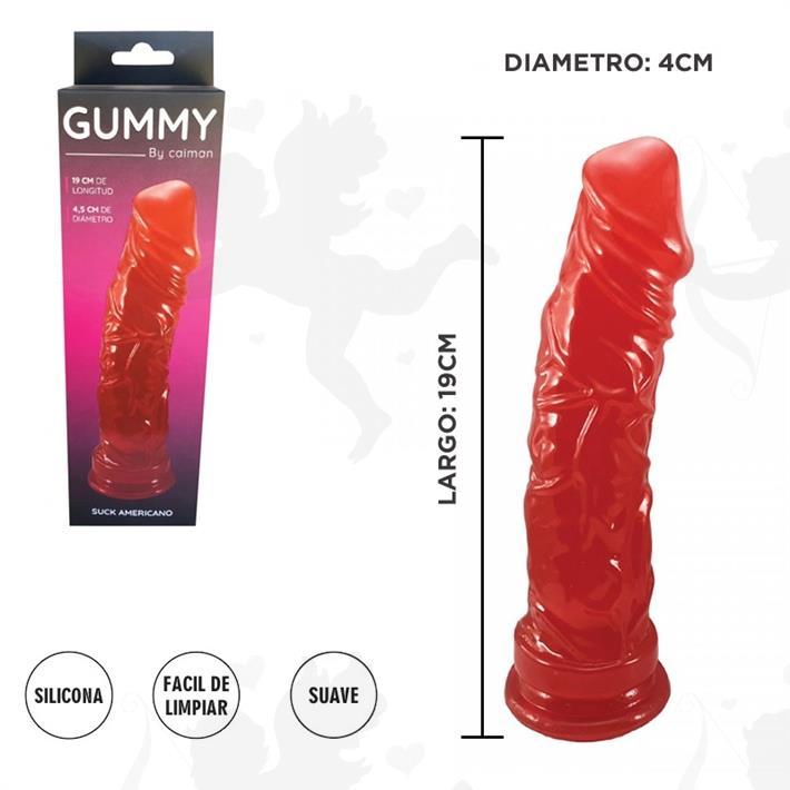 Cód: 3705-5 - Consolador Americano Grande Jelly - $ 1065