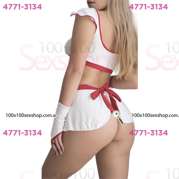 Traje de enfermera erotico con minifalda