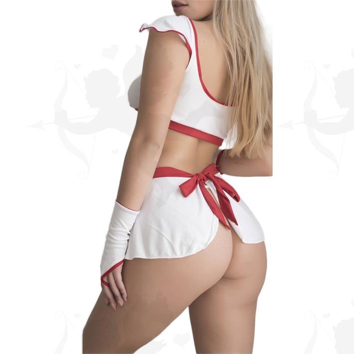 Disfraz erotico de enfermera con minifalda
