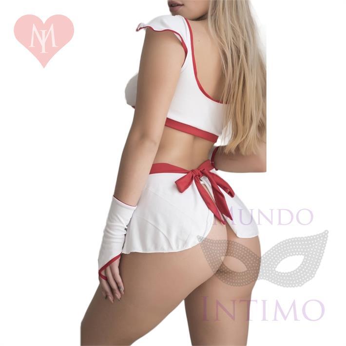 Traje con minifalda de enfermerita sexy