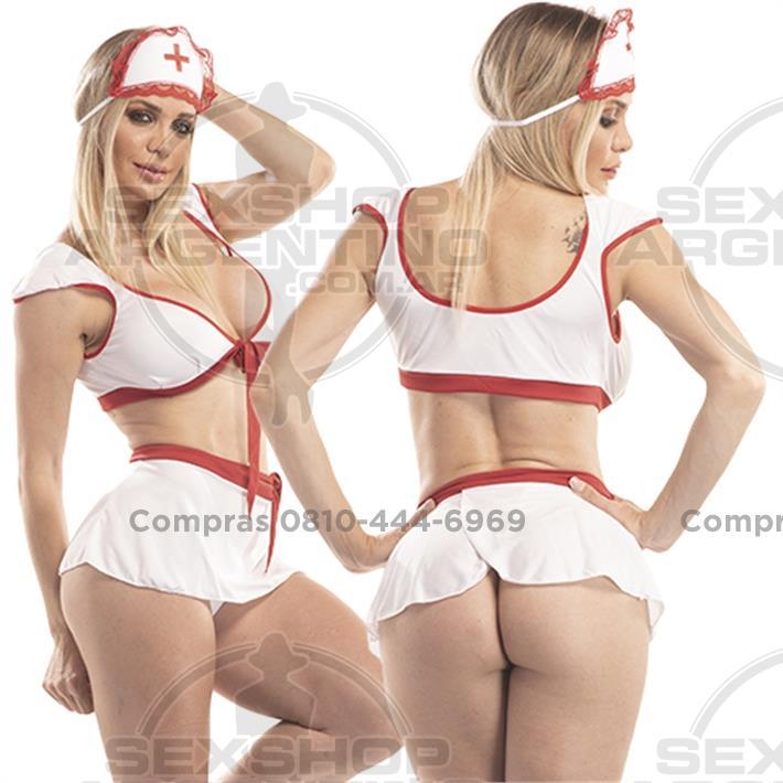 - Disfraz de enfermerita erotico con minifalda