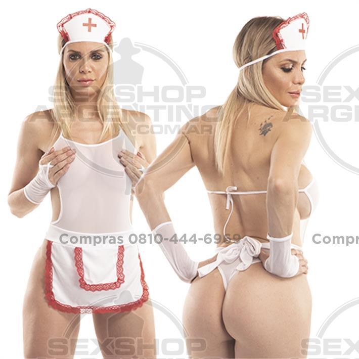 - Disfraz de enfermera con 5 piezas