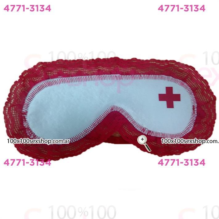 Cód: CA ANTI7B - Antifaz de enfermera blanco - $ 740