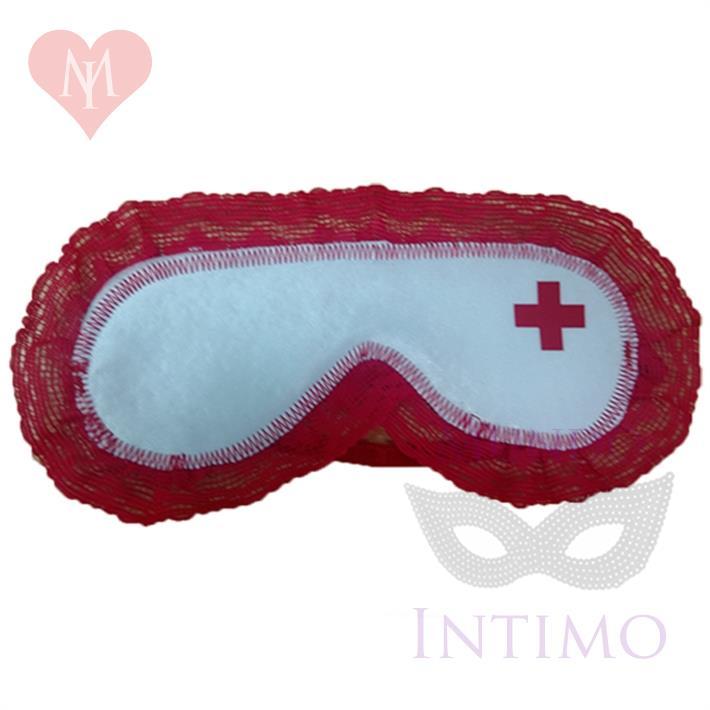 Antifaz de enfermera blanco