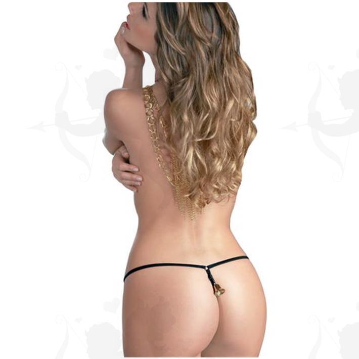 Cód: B010N - Tanga Campanita Femenina - $ 910