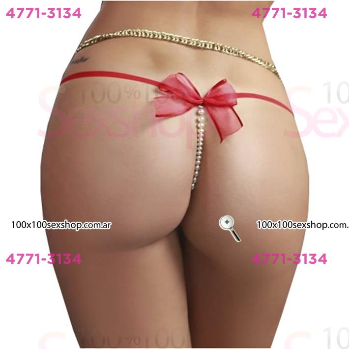 Cód: CA B032R - Colales con perlas y moño - $ 650