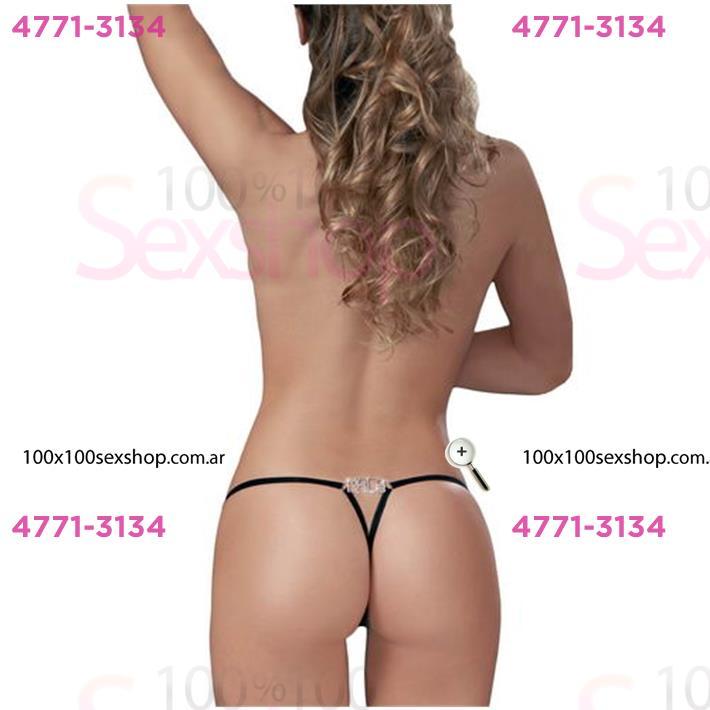 Cód: CA B089N - Tanga Colaless Mala Strass Premium - $ 1740