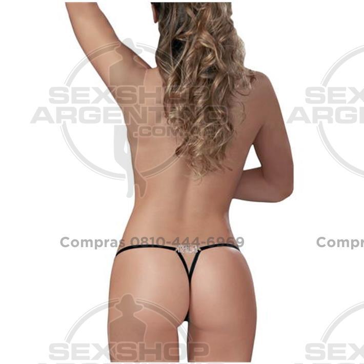 Lencería femenina, Tangas eroticas - Tanga Colaless Mala Strass Premium