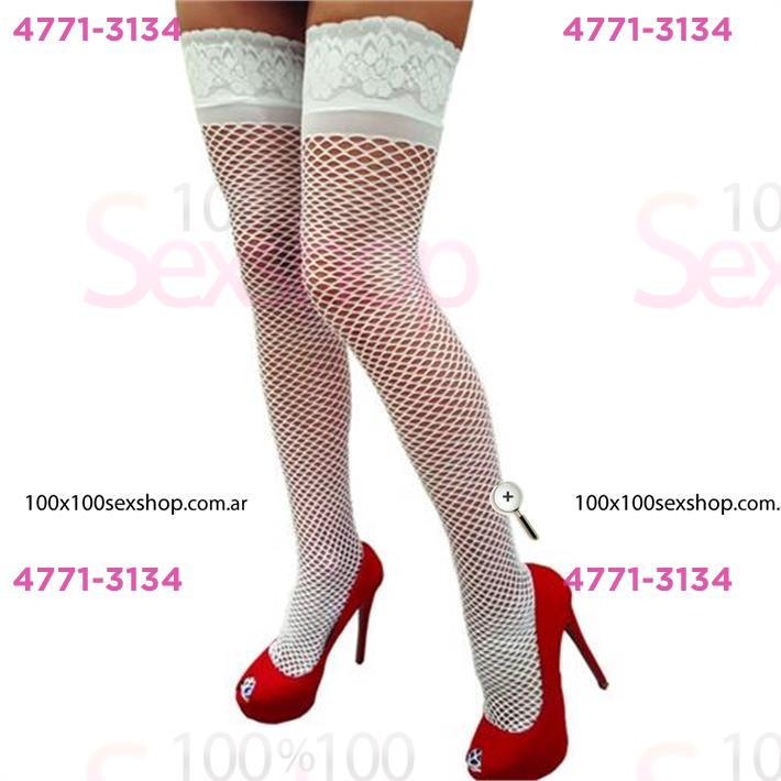 Cód: CA B365B - Medias red blancas - $ 1250