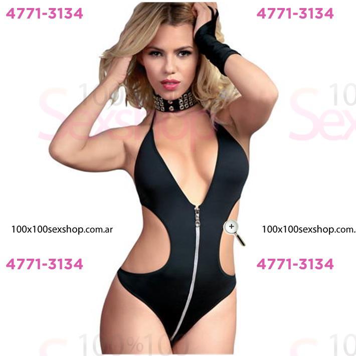 Cód: CA B4020N - Body Negro Con Cierre - $ 1550