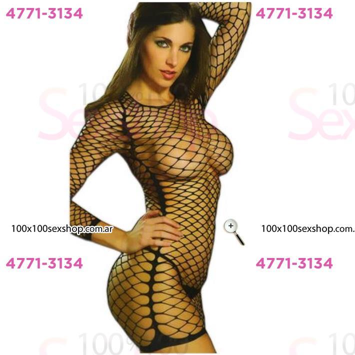 Cód: CA B5530N - Vestido erótico Red Negro con transparencia - $ 1400
