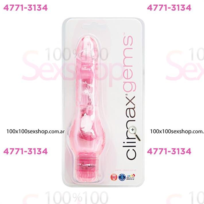 Vibrador sumergible con huevos Clímax rosa