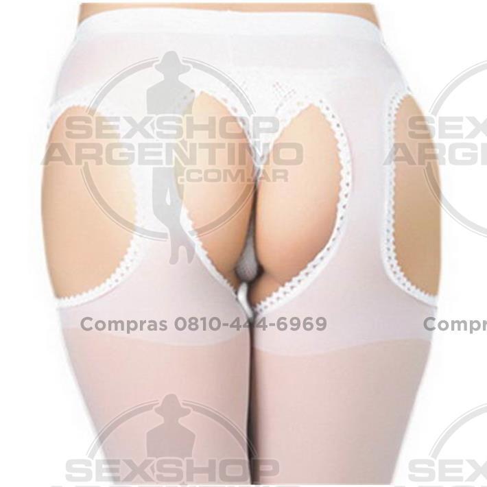 - Portaligas Medias Blanco 3 Agujeros