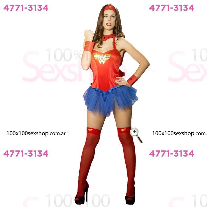 Cód: CA C021P - Fantasía Mujer Maravilla - $ 1680