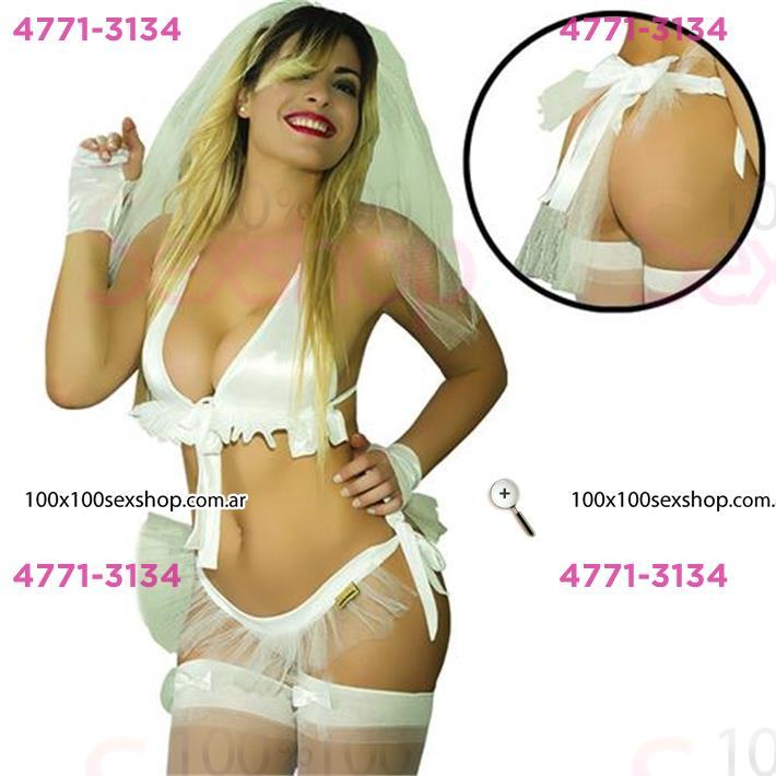 Cód: CA C038FT - Disfraz novia Hot - $ 1090