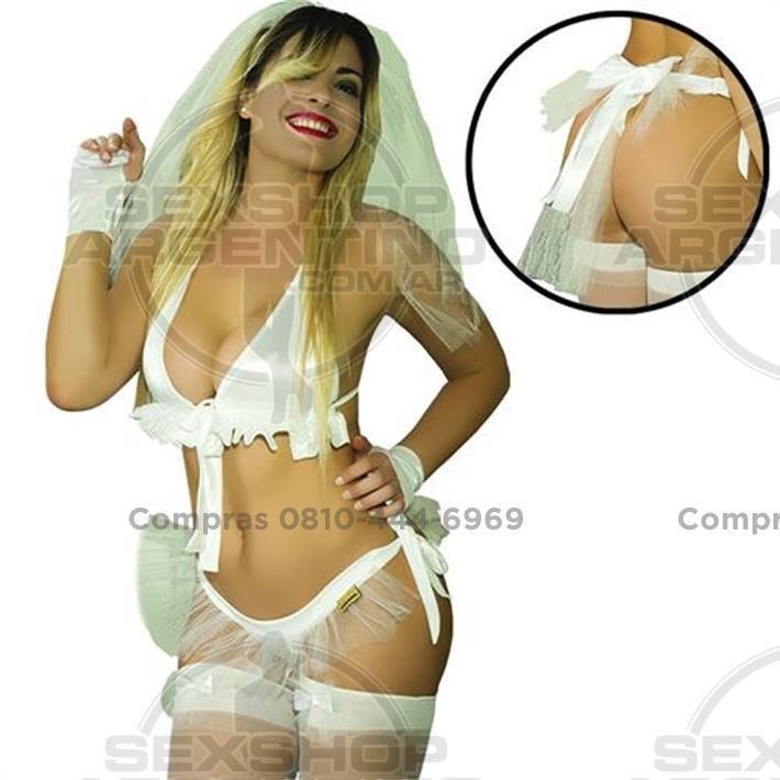 Lencería femenina, Disfraces eroticos - Disfraz novia Hot