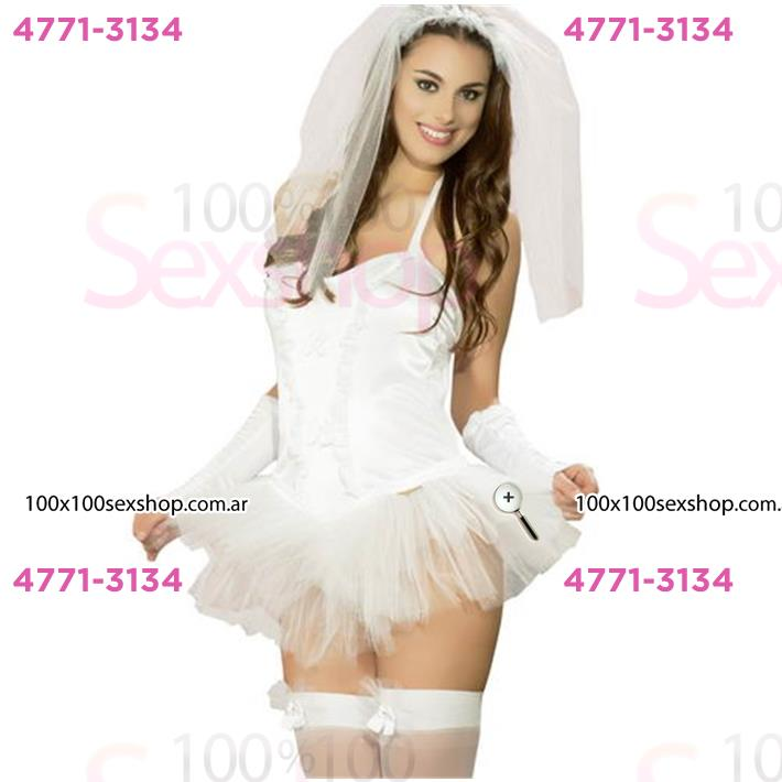 Cód: CA C038P - Disfraz Novia Premium Femenino - $ 1680