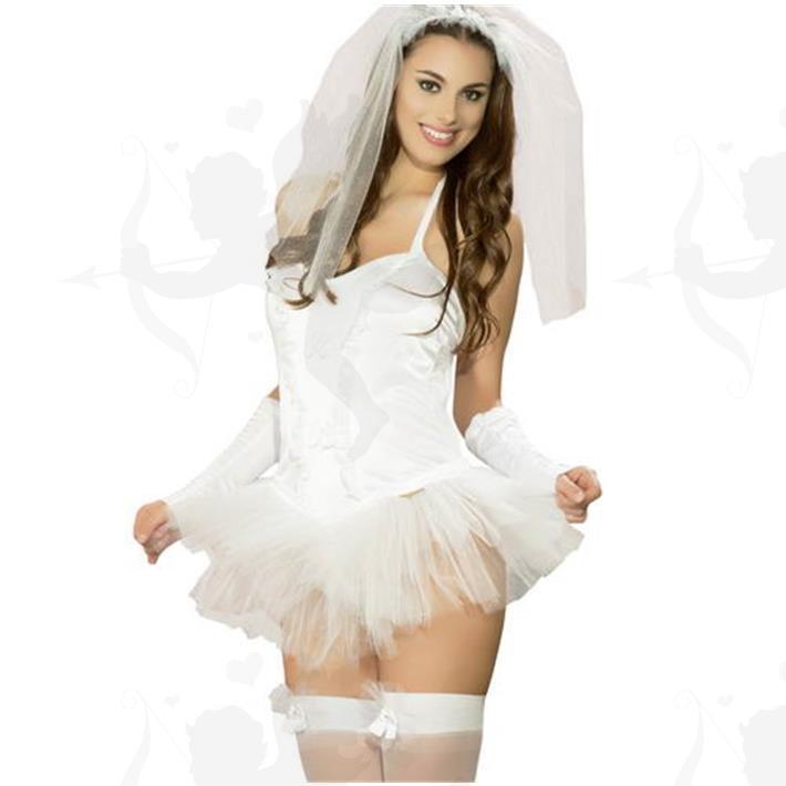 Cód: C038P - Disfraz Novia Premium Femenino - $ 1500