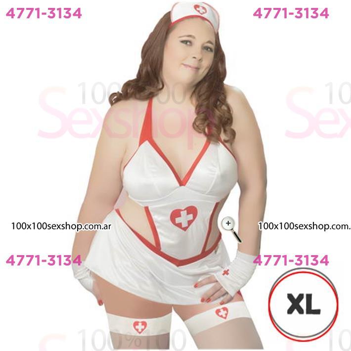 Cód: CA C102BXL - Disfraz Enfermera XL Femenino - $ 1550