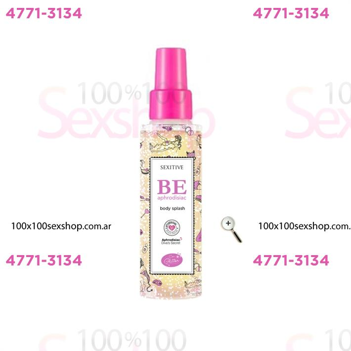Cód: CA CR D04CH - Body splash con feromonas y Glitter 60ml - $ 850