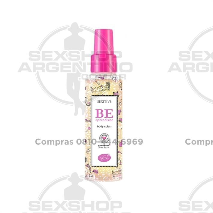 - Body splash con feromonas y Glitter 60ml