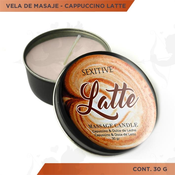 Vela para masajes aroma a cafe latte 30gr