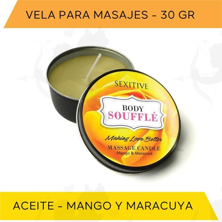 Vela para masajes Mango y Maracuya