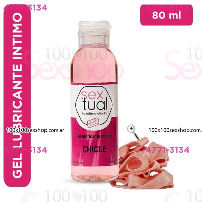 Cód: CA CR T CHICLE80 - Gel lubricante sabor chicle 80ml - $ 560