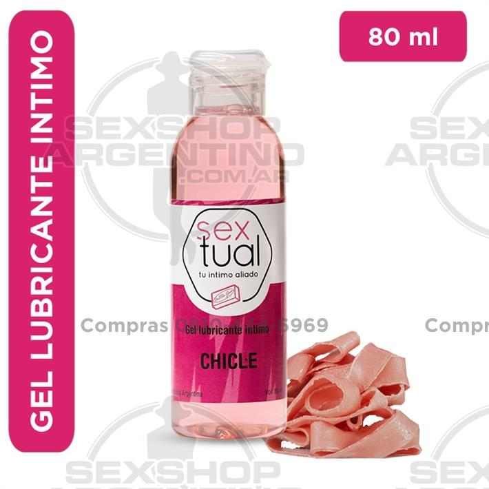 - Gel lubricante sabor chicle 80ml