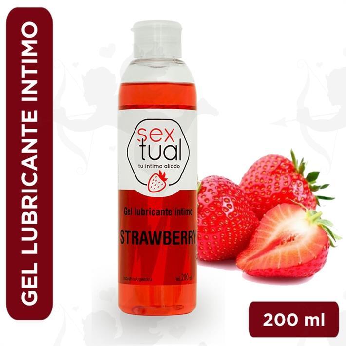 Gel estimulante sabor frutilla 200ml