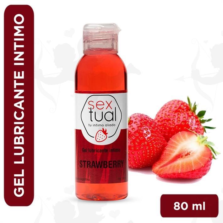 Gel estimulante sabor frutilla 80 ml