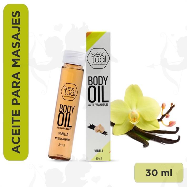 Aceite corporal sabor a Vainilla 30ml
