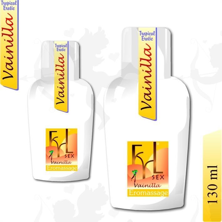 Crema lubricante y para masajes aroma vainilla
