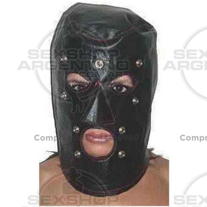 - Mascara De Cuero Con Tachas