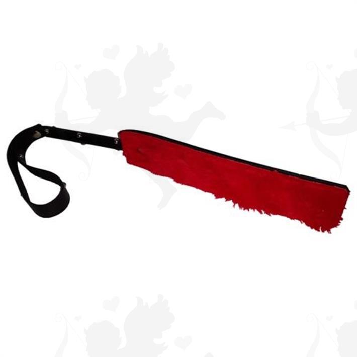 Cód: CU130NR - Fusta corta con peluche rojo - $ 1950
