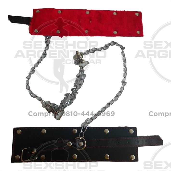 - Esposas inmovilizadoras de cadena larga con peluche