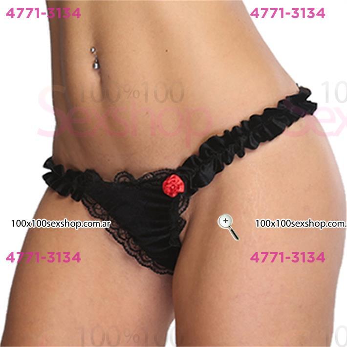 Cód: CA D2234N - Colaless negra con rosa - $ 1200