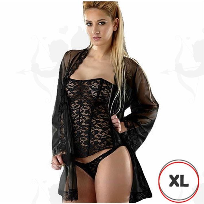 Cód: D3162NXL - Corset Xl Negro - $ 2255