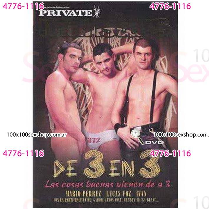 Cód: CA DVDG-215 - DVD XXX De 3 En 3 - $ 200