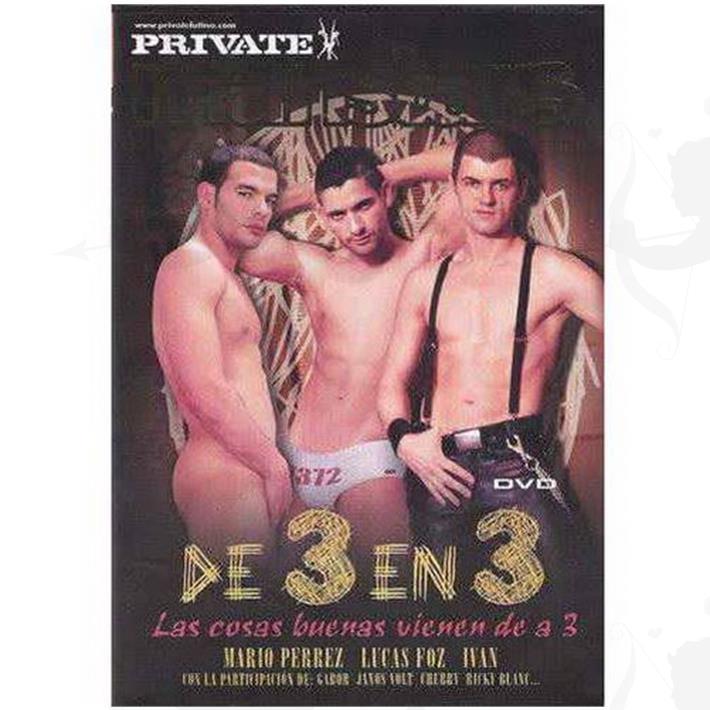Cód: DVDG-215 - DVD XXX De 3 En 3 - $ 200