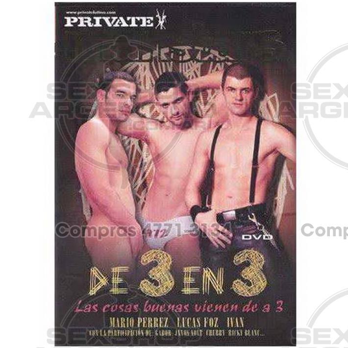 Películas eróticas, Dvd gay - DVD XXX De 3 En 3